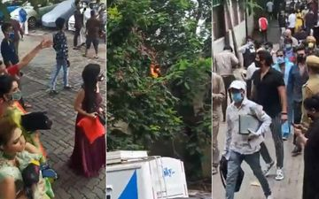 Kasautii Zindagii Kay Shoot Comes To A Halt After A Major Fire Breaks Out On The Sets Of KumKum Bhagya- Watch Videos