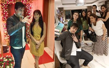 Shivangi Joshi, Mohsin Khan Celebrate 3000 Episodes Of Yeh Rishta Kya Kehlata Hai At A House Party - Pictures