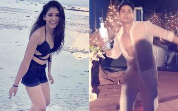 Niti Taylor Captures Priyank Sharma Dancing Around In High Spirits!