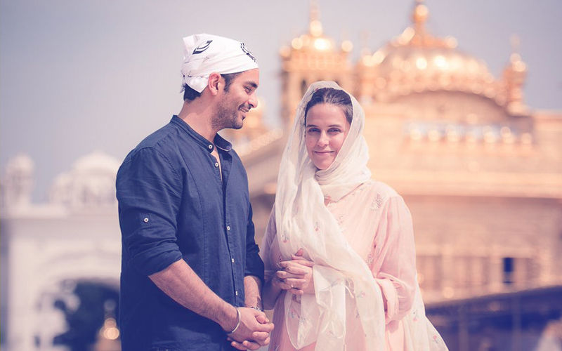 Newlyweds Neha Dhupia & Angad Bedi Seek Blessings At Golden Temple