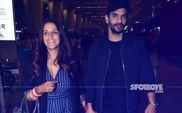 Honeymoon Can't Wait: Hours After Becoming Man & Wife, Neha Dhupia & Angad Bedi Fly Out