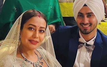 After Tying The Knot, Neha Kakkar And Rohanpreet Singh Return to Mumbai; Twinning In White Newlyweds Are All Smiles
