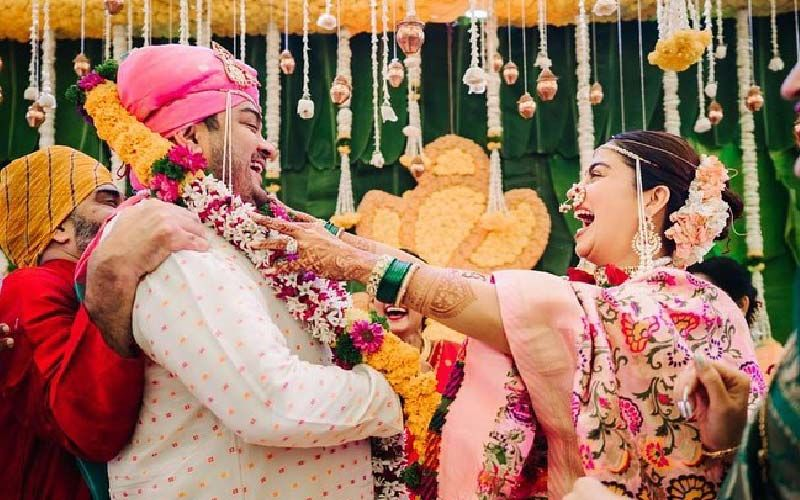 Nehha Pendse's Wedding: Nehha Pendse And Shardul Bayas Love-struck On Their Wedding Day
