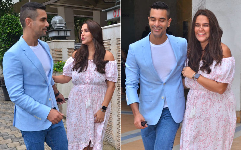 Neha Dhupia And Angad Bedi Take Time Off Baby Duty, Step Out For A Lunch Date In The City – Pictures