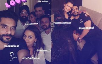 Inside Pics: नेहा धूपिया और अंगद बेदी ने इंडस्ट्री के दोस्तों के साथ की हाउस पार्टी