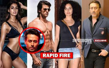 RAPID FIRE: Tiger Shroff Reacts On What If He Wakes Up As Disha Patani, Hrithik Roshan, Kangana Ranaut, Jackie Shroff?- EXCLUSIVE