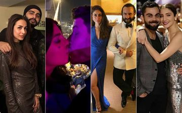 Malaika Becomes A Part Of Arjun's Family, Priyanka-Nick Share A Kiss, Kareena-Saif And Virat-Anushka Spend 'We' Time- Bollywood's New Year Celebration