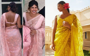 Priyanka Chopra Should Have Chosen Yellow Over Peachy-Pink For Her Sabyasachi Saree?