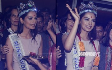 Manushi Chhillar Returns To Mumbai. Look What She Told Those Who Went To See Her At The Airport!