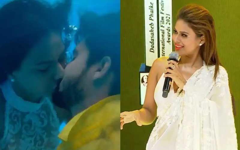 Nia Sharma Calls Jamai Raja Co-star Ravi Dubey 'The Best Kisser' At Dadasaheb Phalke International Awards – WATCH