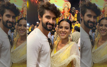 Nia Sharma And Ravi Dubey Seek Blessings From Lalbaugcha Raja On Behalf Of The Entire Team Of Jamai 2.0