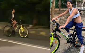 Nia Sharma's Late Night Cycling Session Looks Fun; Actress Goes Riding Her Cycle Like A Free Bird Sans Mask - WATCH