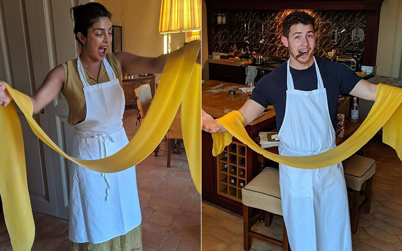 Priyanka Chopra And Nick Jonas Cook Pasta For Each Other On Their Date Night; Isn't That Romantic?