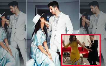 Priyanka Chopra-Nick Jonas Celebrate His Birthday Bollywood Style As They Dance To Hauli Hauli- VIDEO