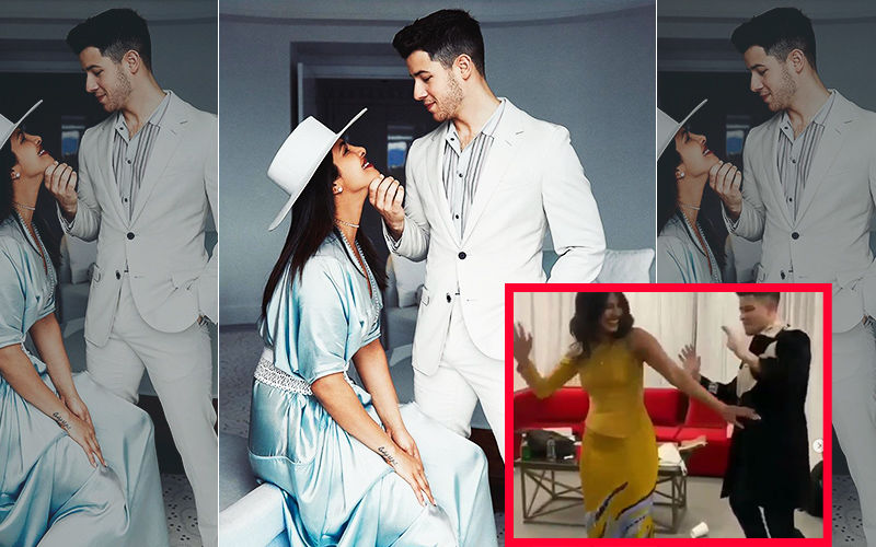 Priyanka Chopra-Nick Jonas Celebrate His Birthday Bollywood Style As They Dance To Hauli Hauli- VIDEO