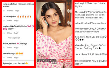 "Nidhhi Agerwal Kicks The Cheap Comments On Her Pic Aside; Says, ""Am Too Thick-Skinned"""