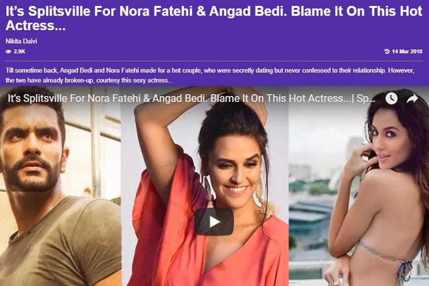 nora fatehi and angad bedi split
