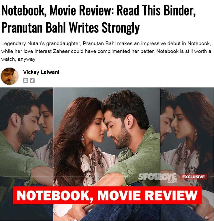 notebook movie review