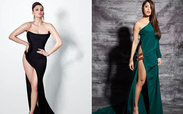 Urvashi Rautela Or Nushrat Bharucha - Who Werked The Dangerous Slit Dress Better?