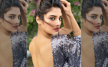 Nusrat Jahan Amps Up The Glam Quotient In A Backless Shimmery Dress, Shares Pics On Instagram