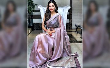 Nusrat Jahan Is Looking Ravishing In This Grey Coloured Saree, Shares Pictures On Instagram