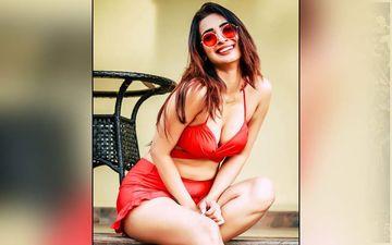 Heena Panchal Dons A Stunning Red Bikini Flaunting Her Luscious Curves