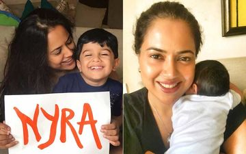 Sameera Reddy Names Her Baby Girl Nyra; Elder Son Reveals It In The Sweetest Way Possible