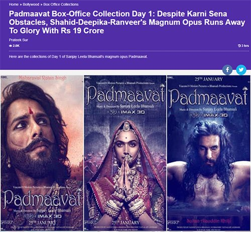 padmaavat box office collections