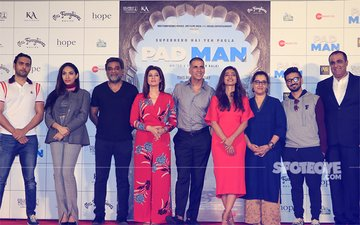 Akshay Kumar, Radhika Apte & Twinkle Khanna At The Launch Of First Song From Padman, Aaj Se Teri
