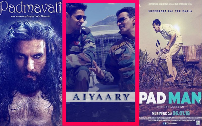 OMG! Padmavati Plans To FIGHT Padman, Aiyaary CHICKENS OUT