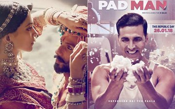 IT'S OFFICIAL: Padmavati WILL LOCK HORNS With Pad Man on January 25