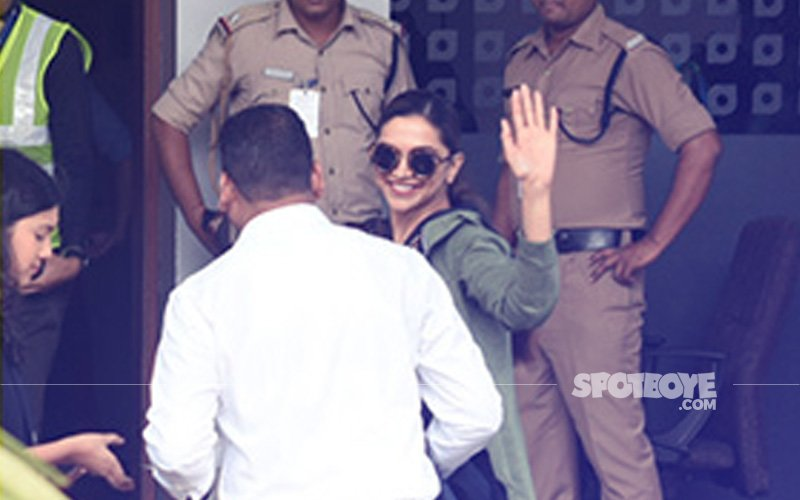 Padmavati Star Deepika Padukone Enters The Airport Looking Super Chic In Casual Wear