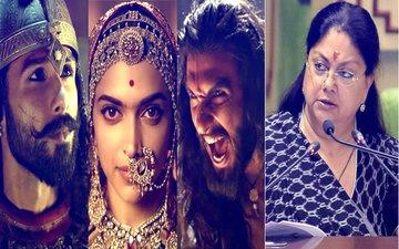 Rajasthan CM Vasundhara Raje BANS Ranveer Singh-Deepika Padukone-Shahid Kapoor Starrer Padmavati