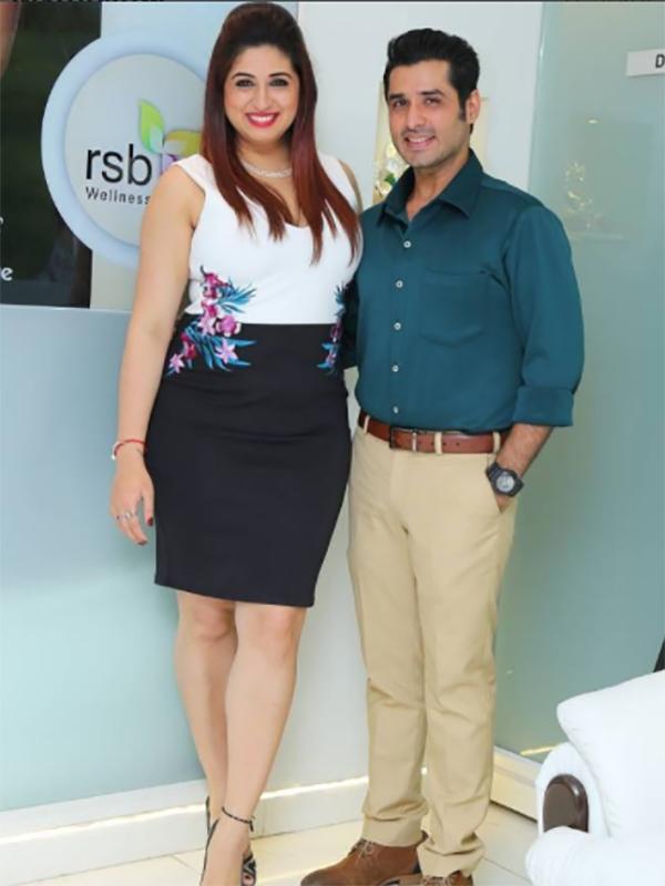 pankit thakker and vahbiz dorabjee pose together