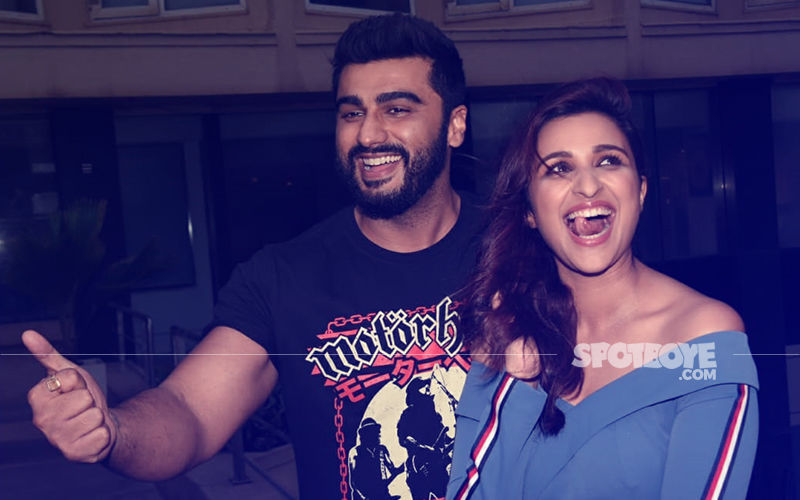 Parineeti Chopra Can't Control Her Laughter As She Poses With Arjun Kapoor