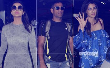 SPOTTED: Parineeti Chopra, M.S. Dhoni, Kriti Sanon At The Airport