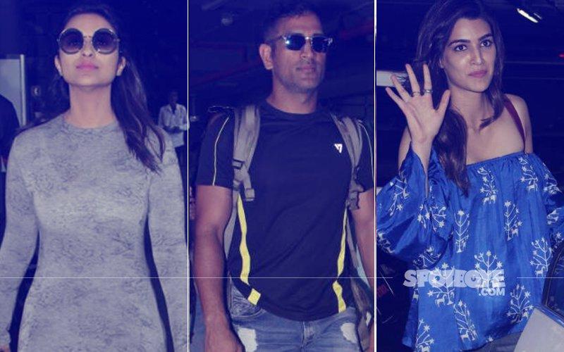SPOTTED: Parineeti Chopra, M.S. Dhoni, Kriti Sanon At The Airport
