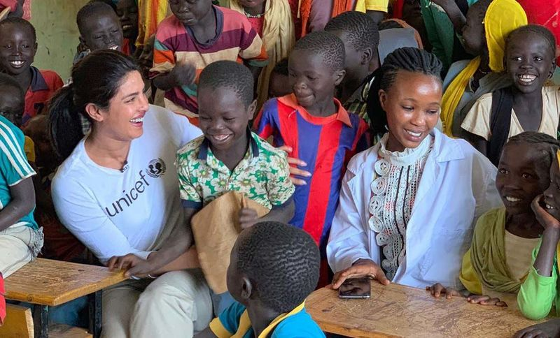 Fan Questions Priyanka Chopra's Efforts For Indian Kids On Seeing Her Pictures With Ethiopian Children; Actress Answers