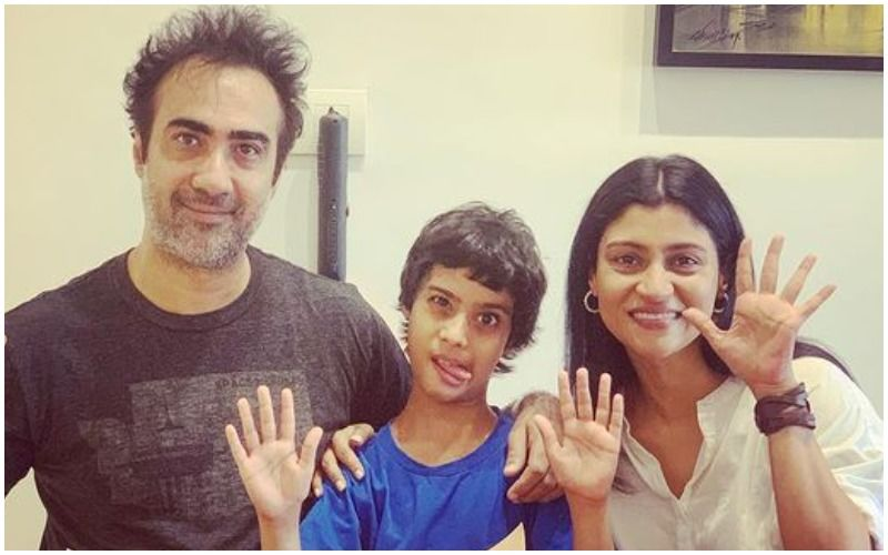 Ex-Couple Konkona Sen Sharma And Ranvir Shorey Reunite To Celebrate Son Haroon's 10th Birthday; Pose Together For A Family Pic
