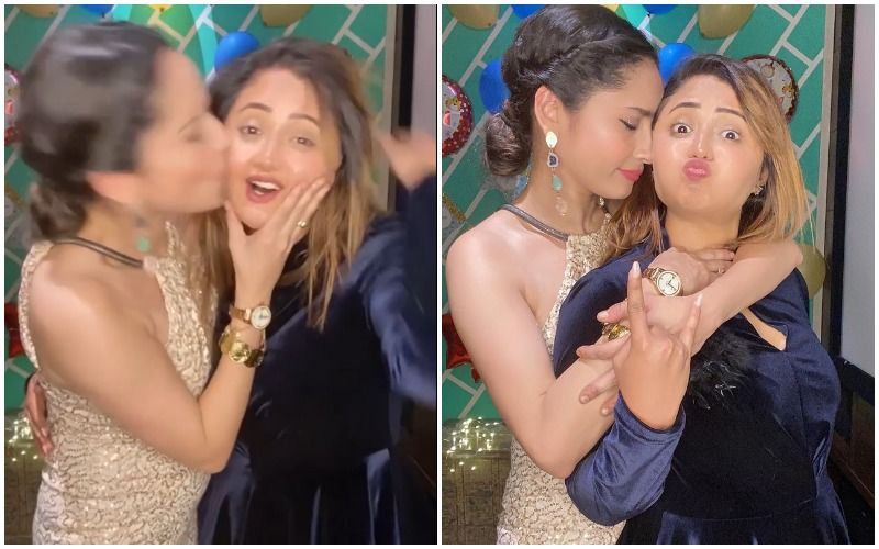 After Slamming Trolls, Ankita Lokhande Enjoys A Crazy House Party With BFF Rashami Desai; Smothers Her With Love- VIDEOS