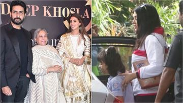 Aishwarya Rai Bachchan Makes A Rushed Appearance After Missing Bachchan's Lalbaug Visit And Abu-Sandeep's Bash