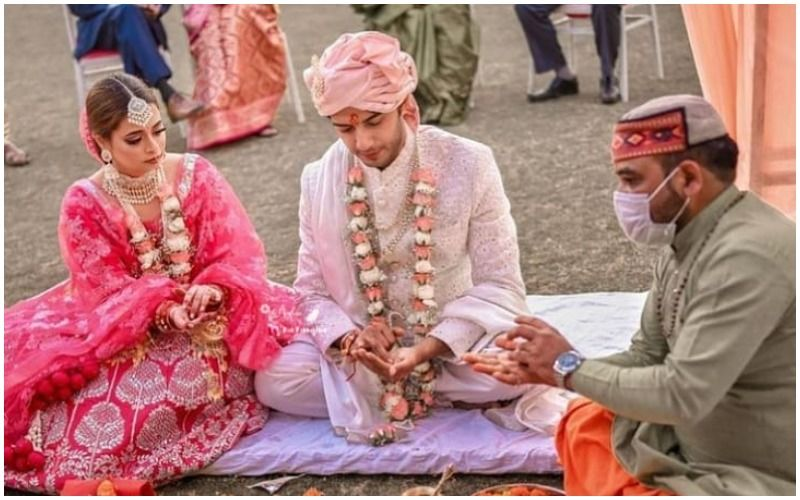 Qubool Hai Actor Vikram Singh Chauhan Ties The Knot With GF Sneha Shukla; Newlyweds Are Beaming With Joy In Pics From Their Wedding