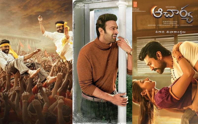 Happy Ugadi 2021: Prabhas And Ram Charan Treat Fans With New Posters Of Radhe Shyam And RRR; Pooja Hegde's FIRST LOOK from Acharya Is Out