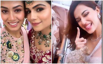 Disha Patani Dances On Dhol Beats At Her Friend's Baraat, Stuns In Her Desi Avatar; Mira Rajput Has A Blast At Her Bestie's Wedding