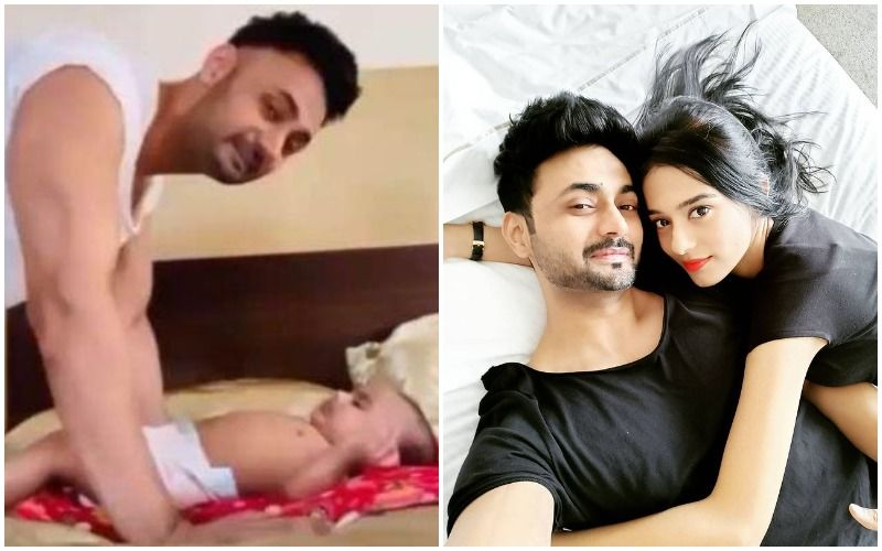 Amrita Rao's Hubby RJ Anmol Is A 'Hands-On Papa' To Their Baby Boy Veer; Actress Shares A Video Of Him Acing Daddy Duties- WATCH