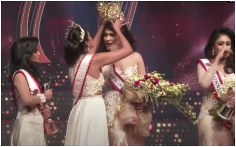 VIDEO Of Reigning Mrs World SNATCHING The Winner's Crown At Mrs Sri Lanka Beauty Pageant Goes VIRAL; Fight Breaks Out On Stage- WATCH