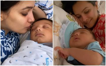 New Mommy Anita Hassanandani Showers Love On Her Baby Boy Aaravv; Sings Gayatri Mantra To Him In This Adorable Video- WATCH
