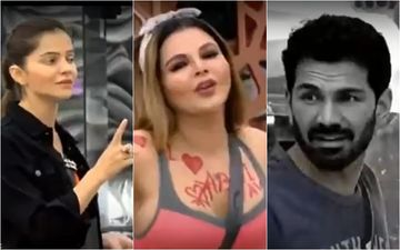 Bigg Boss 14: Rakhi Sawant Writes Abhinav Shukla's Name All Over Her Body; Leaves Abhinav Disgusted, Rubina Dilaik Calls It 'Cheap Entertainment'- VIDEO