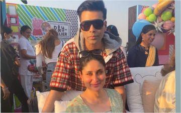 Preggers Kareena Kapoor Khan Poses With Karan Johar At Yash And Roohi's Birthday Bash; KJo Says She Is 'Ready To Pop'- INSIDE PIC