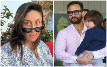 As Kareena Kapoor Khan Prepares For Her Second Delivery, Saif Ali Khan- Taimur Ali Khan SPOTTED Heading Out In A Car